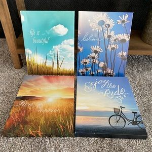 Four Canvas Wall Pictures